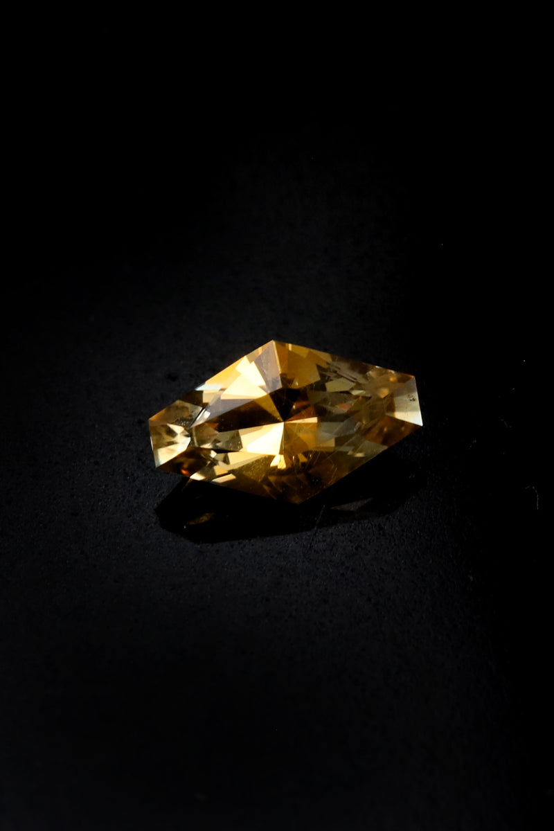 "NEW - ""Montana Creamsicle"" .86ct Montana Sapphire measuring 7.8x4.8"