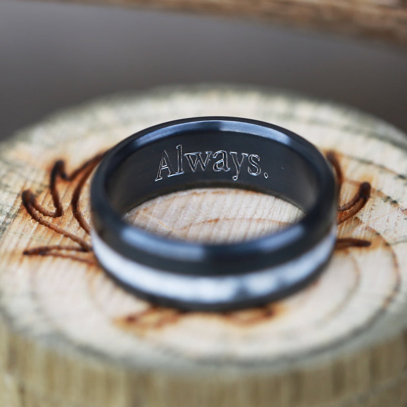 CUSTOM RING ENGRAVING - Staghead Designs - Antler Rings By Staghead Designs