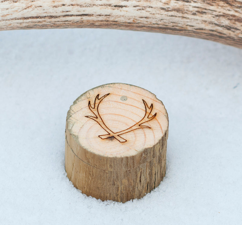 ELK ANTLER TOPPED CUFFLINKS W/ 24K GOLD PLATED BASES -  Custom Rings Handcrafted By Staghead Designs