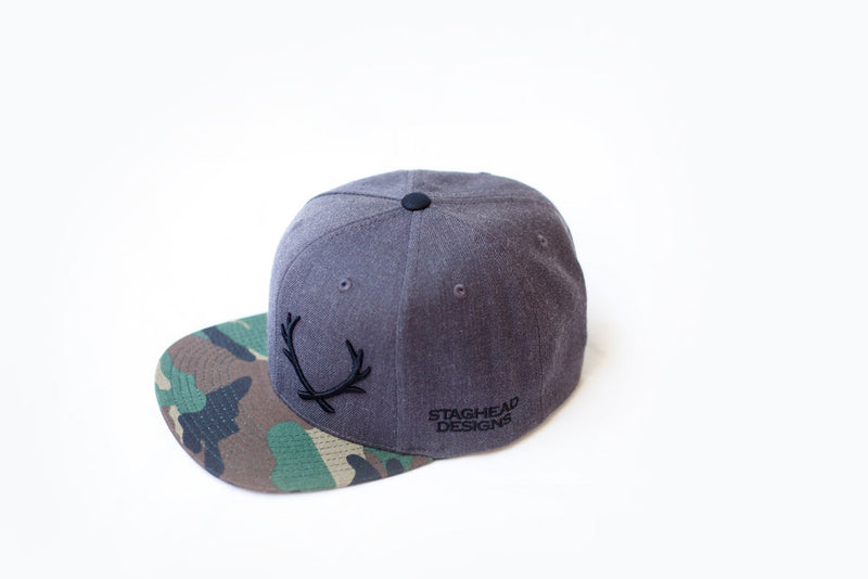 CAMO STAGHEAD SNAPBACK - Staghead Designs - Antler Rings By Staghead Designs