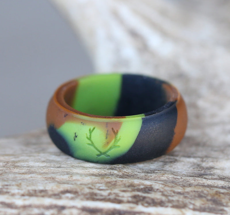 CAMO SILICONE WEDDING BAND -  Custom Rings Handcrafted By Staghead Designs