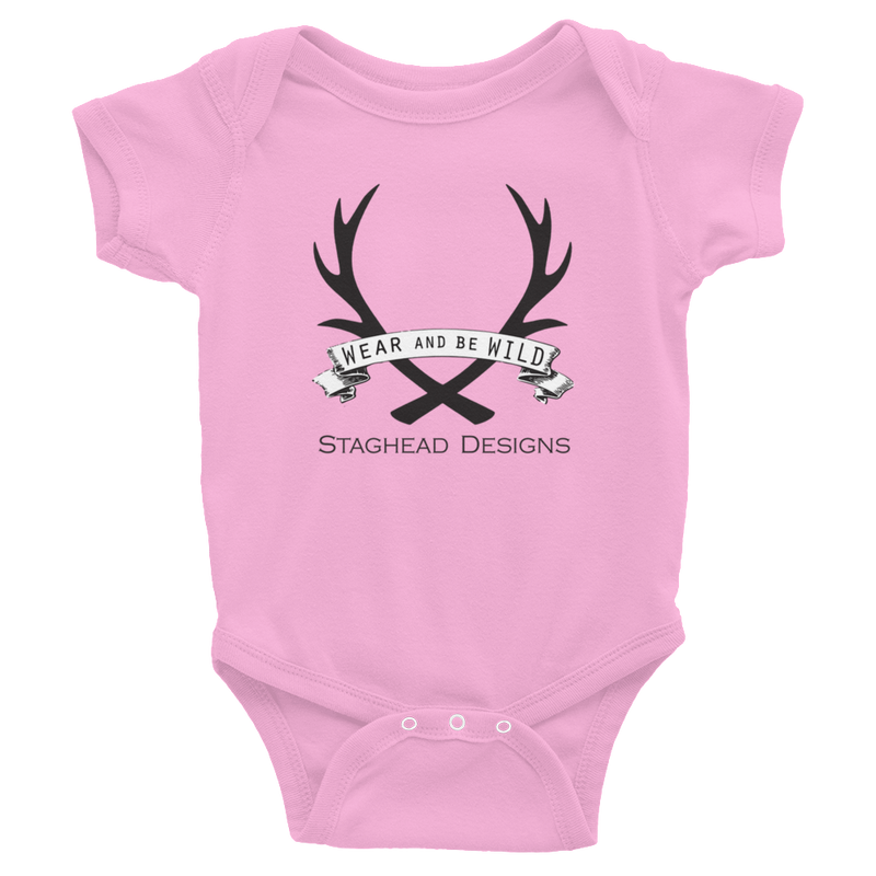 STAGHEAD BABY ONESIE - Staghead Designs - Antler Rings By Staghead Designs