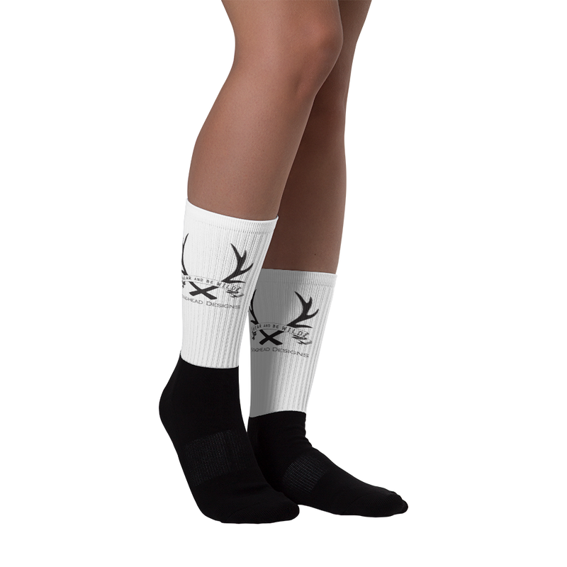 Staghead Socks - Full Logo - Staghead Designs - Antler Rings By Staghead Designs