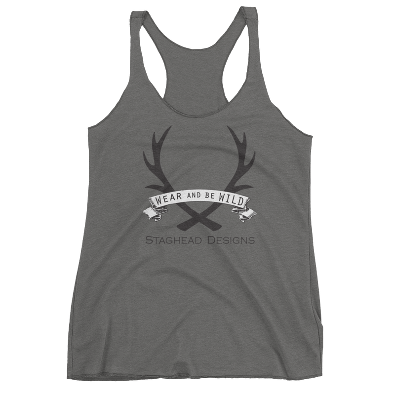 WOMEN'S TRI-BLEND TANK-TOP (several color options) - Staghead Designs - Antler Rings By Staghead Designs