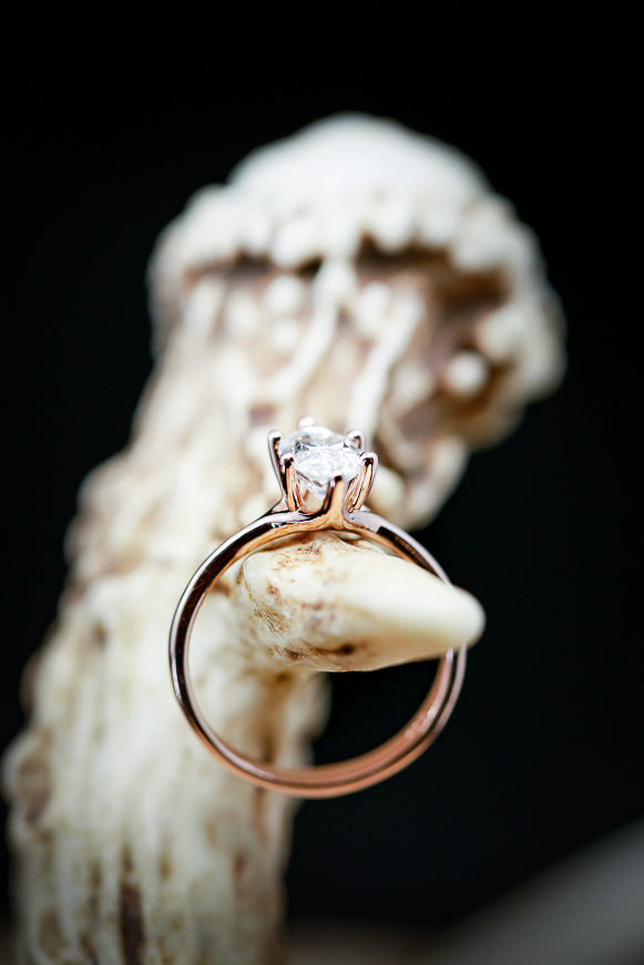 2ct MOISSANITE STONE WITH A MARQUISE CUT (available in 14K rose, white, or yellow gold) - Staghead Designs - Antler Rings By Staghead Designs
