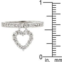 Load image into Gallery viewer, Simple Heart Charm Ring