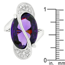 Load image into Gallery viewer, Pave Amethyst Purple Orbit Ring