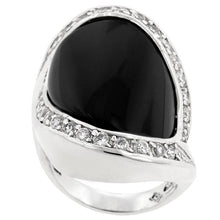 Load image into Gallery viewer, Pave Trim Onyx Ring