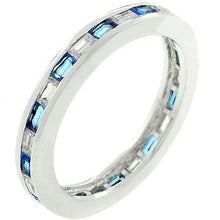 Load image into Gallery viewer, Sapphire Eternity Ring