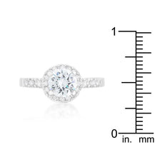 Load image into Gallery viewer, Solitaire Engagement Ring With Pave Halo