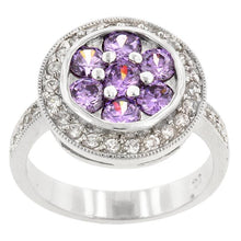 Load image into Gallery viewer, Amethyst Purple Lily Ring