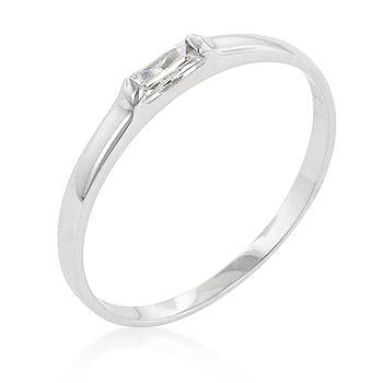 Clear Petite Solitaire Ring