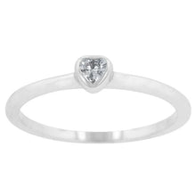 Load image into Gallery viewer, Clear Heart Solitaire Ring