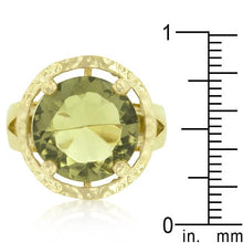 Load image into Gallery viewer, Yellow Cubic Zirconia Organic Ring