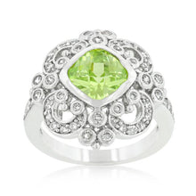 Load image into Gallery viewer, Elegant Peridot Crest Ring