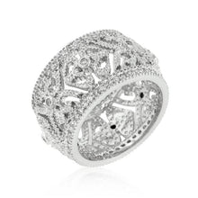 Load image into Gallery viewer, Filigree Crest Eternity Ring