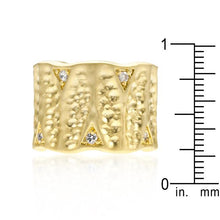 Load image into Gallery viewer, Textured Organic Matte Golden Eternity Ring