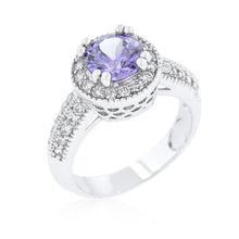 Load image into Gallery viewer, Lavender Halo Engagement Ring