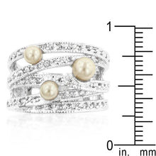 Load image into Gallery viewer, Champagne Pearl Cocktail Ring