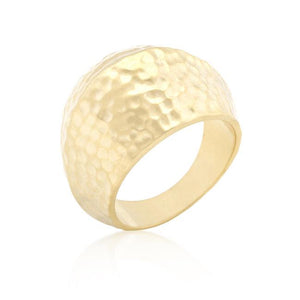 Hammered Golden Fashion Ring