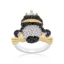 Load image into Gallery viewer, Cubic Zirconia Frog Prince Ring
