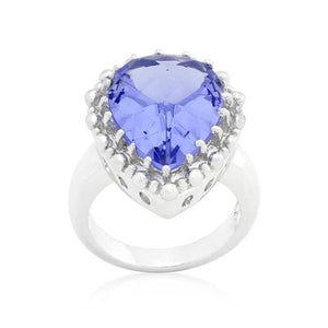 Solitaire Light Purple Cocktail Ring