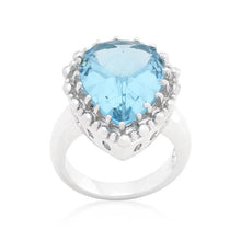 Load image into Gallery viewer, Solitaire Blue Topaz Cocktail Ring
