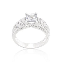 Load image into Gallery viewer, Cubic Zirconia Princess Cut Ring