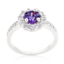 Load image into Gallery viewer, Purple Halo Engagement Ring