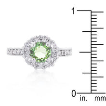 Load image into Gallery viewer, Bella Birthstone Engagement Ring in Green