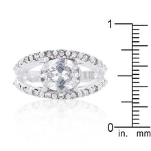 Load image into Gallery viewer, Clear Split Band Engagement Ring