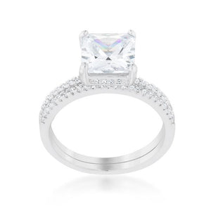 Princess Solitaire Wedding Set Ring