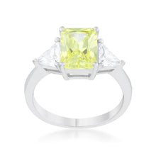Load image into Gallery viewer, Classic Peridot Rhodium Engagement Ring