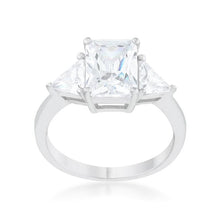 Load image into Gallery viewer, Classic Clear Sterling Silver Engagement Ring