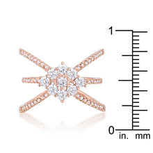 Load image into Gallery viewer, Mindy 0.8ct CZ Rose Gold Delicate Triple Wrap Ring