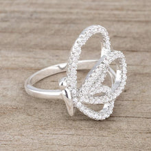 Load image into Gallery viewer, Bea 0.4ct CZ Rhodium Pave Butterfly Ring
