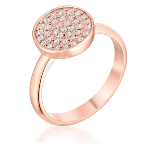 0.2ct CZ Rose Gold Pave Circle Ring