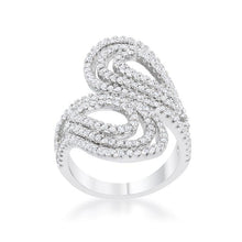 Load image into Gallery viewer, Serina 1ct CZ Rhodium Pave Circle Ring