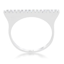 Load image into Gallery viewer, Karolina 0.2ct CZ Rhodium Contemporary Simple Ring