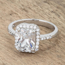 Load image into Gallery viewer, Ariana 2.95ct CZ Rhodium Classic Ring