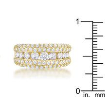 Load image into Gallery viewer, Luna 1.1ct CZ 14k Gold Classic Band Ring