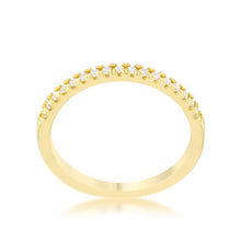 Load image into Gallery viewer, Rina 0.11ct CZ 14k Gold Delicate Band Ring