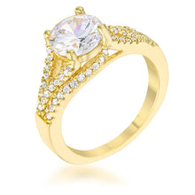 Load image into Gallery viewer, Irine 2.3ct CZ 14k Gold Classic Ring