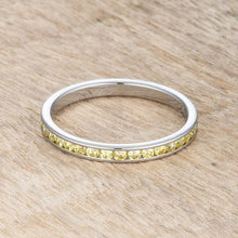 Load image into Gallery viewer, Teresa 0.5ct Jonquil CZ Stainless Steel Eternity Band