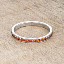 Load image into Gallery viewer, Teresa 0.5ct Dark Champagne CZ Stainless Steel Eternity Band