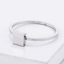 Load image into Gallery viewer, Stainless Steel Square Stackable Ring