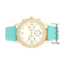 Load image into Gallery viewer, Gold Shell Pearl Watch With Crystals