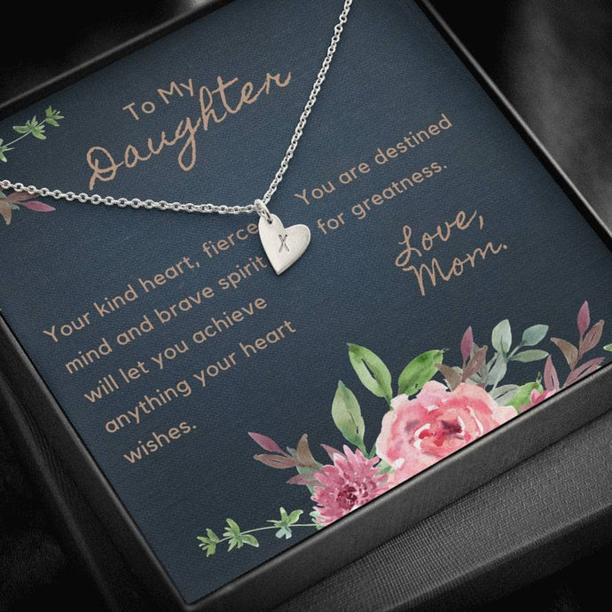 To My Daughter - Personalize Hearts Necklace