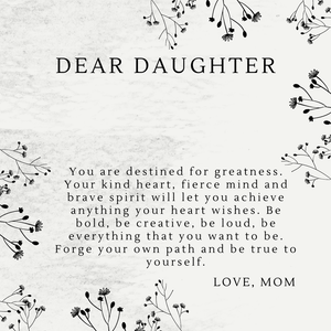 Dear Daughter Necklace - Shinebrook