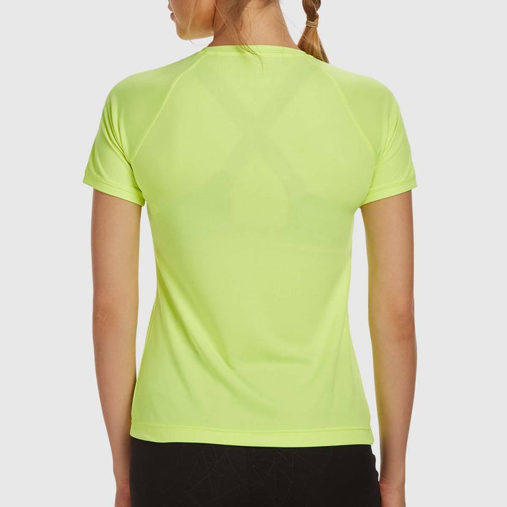V-neck Performance Tees - Neon Yellow